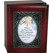 Niece First Communion 4x5 Keepsake Box #SJBX-COM2-N