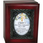 Personalized Communion 4x5 Keepsake Box #SJBX-COM2-P