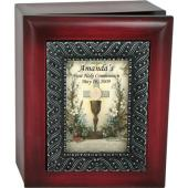 Personalized Communion 4x5 Keepsake Box #SJBX-HC3-P