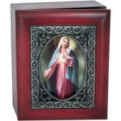 Immaculate Heart 4x5 Keepsake Box SJBX-IHM3