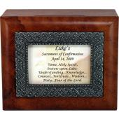 Personalized Confirmation Keepsake Box  #SJBX-SC7-P