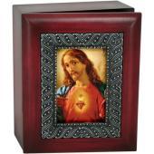 Sacred Heart 4x5 Keepsake Box SJBX-SHJ