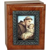 Saint Anthony 4x5 Keepsake Box SJBX-STA
