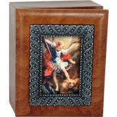 Saint Michael 4x5 Keepsake Box SJBX-STM