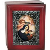 Saint Rita 4x5 Keepsake Box SJBX-STR