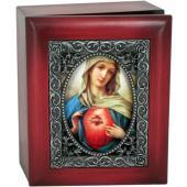 Immaculate Heart 4x5 Keepsake Box SJBX-IHM(m)