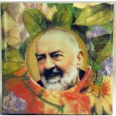 Padre Pio Floral Paper Box #SPBX-PP