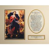 Our Lady Undoer of Knots 8x10 Mat #810MAT-OLK